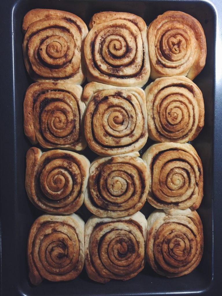 Receta de cinnamon rolls