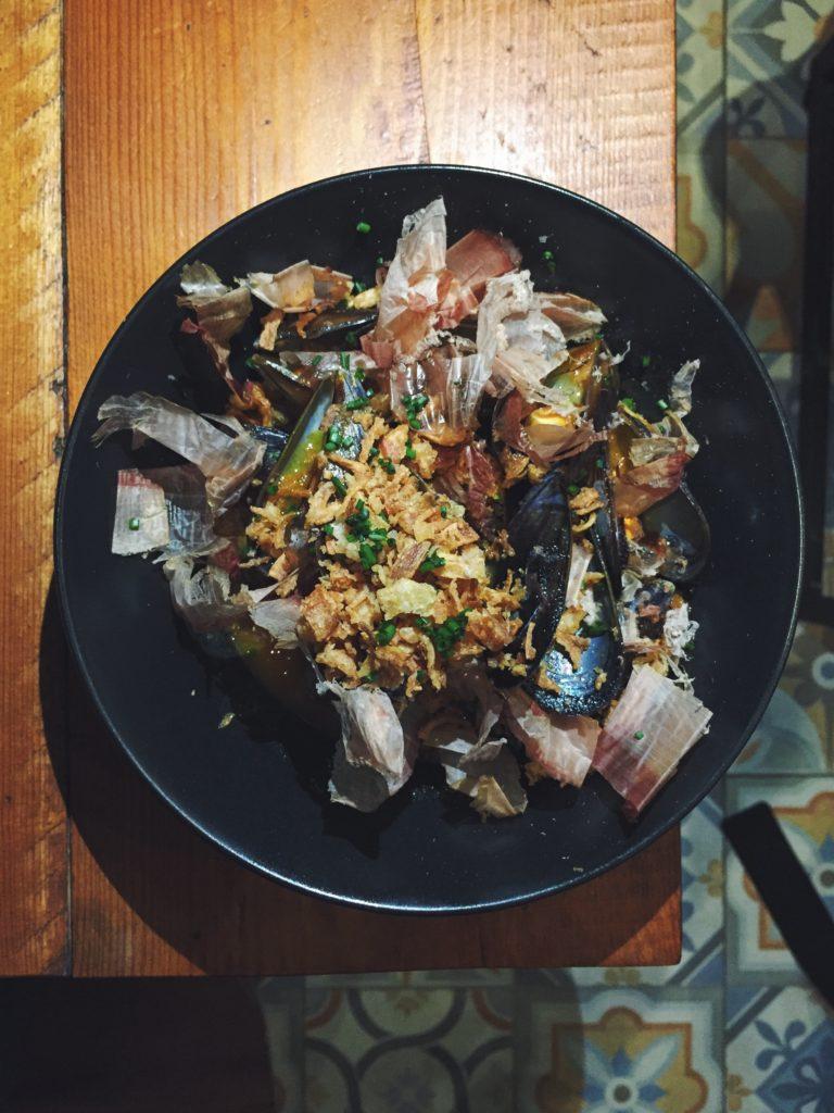 Mejillones del restaurante Gourmet Tapas by Sensi