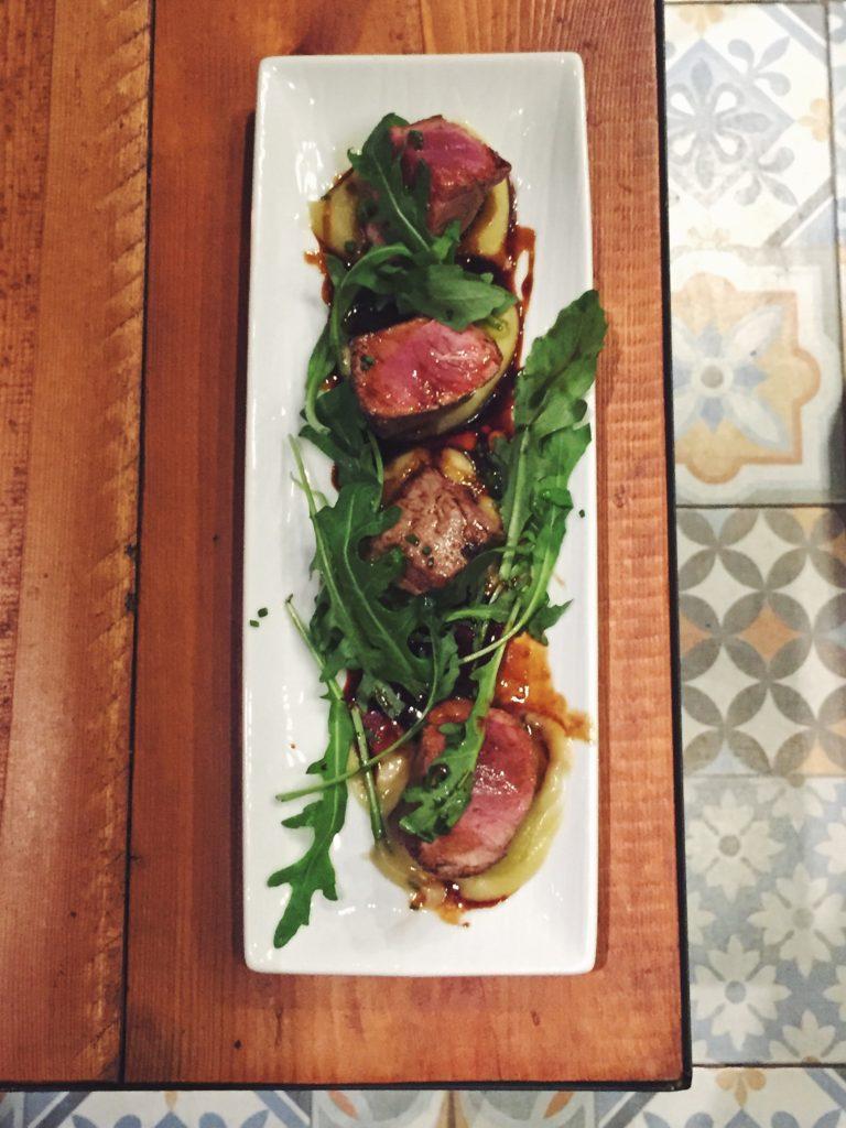 Presa ibérica del restaurante Gourmet Tapas by Sensi