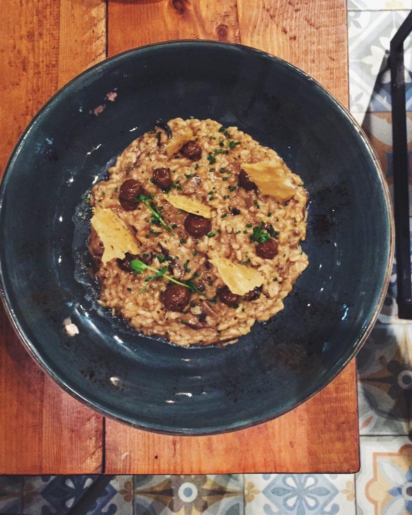 Risotto de setas del restaurante Gourmet Tapas by Sensi