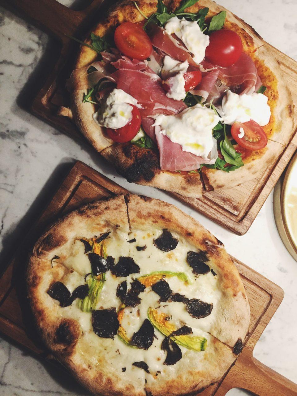 Pizzas del restaurante Cecconi's Barcelona