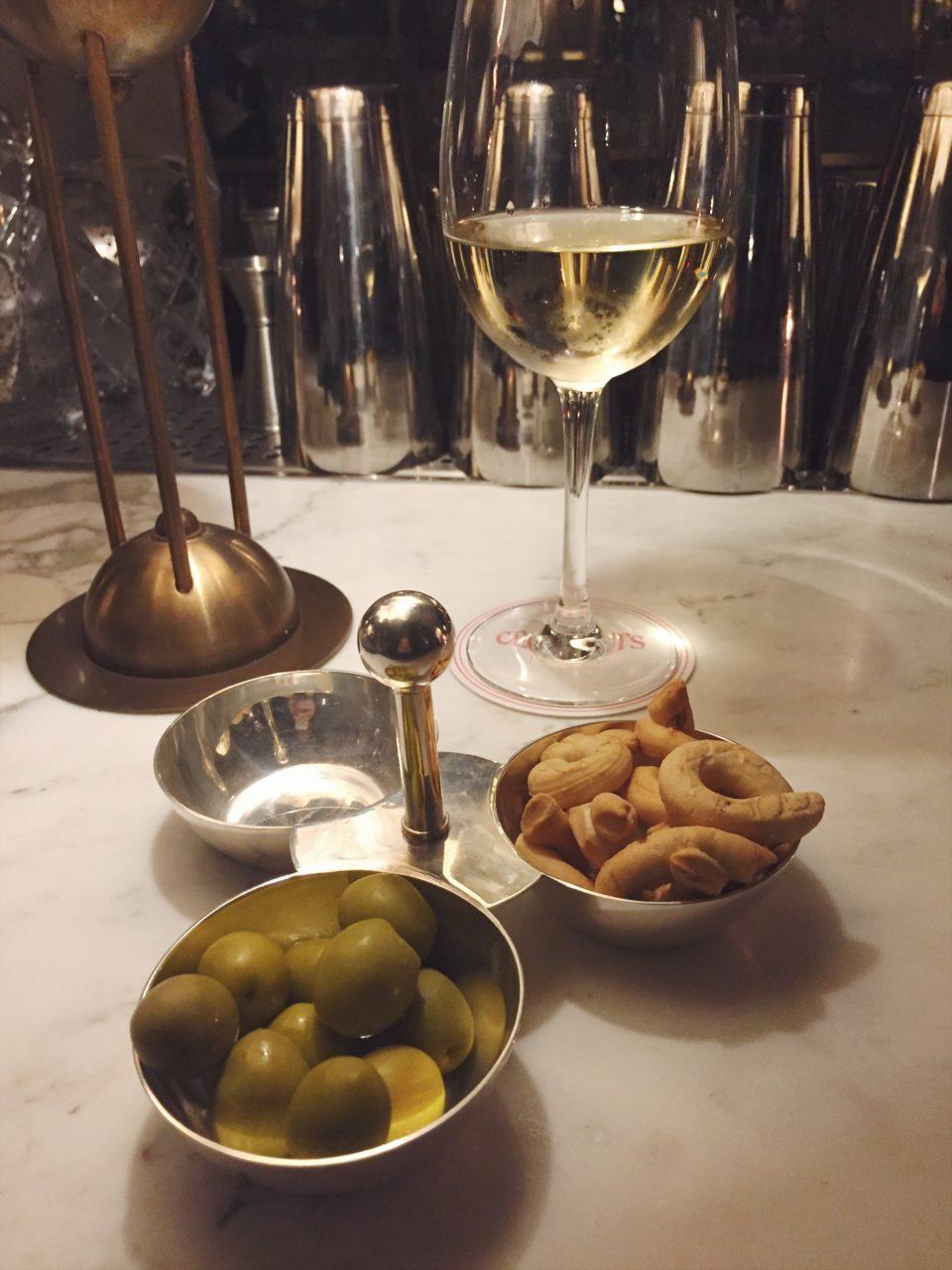 Aperitivo del restaurante Cecconi's Barcelona