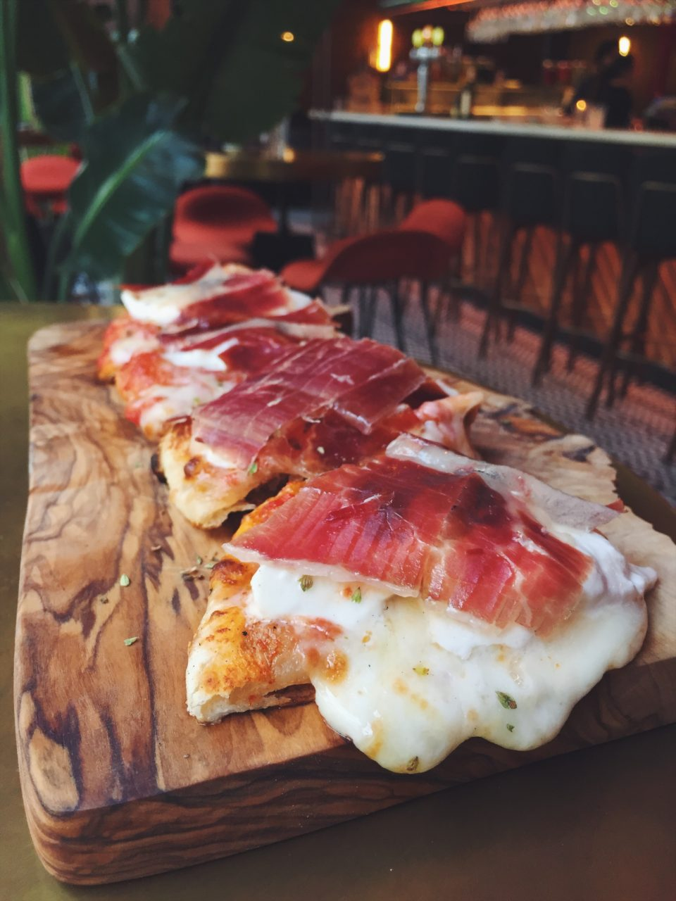 Pizza del restaurante El Mama y La Papa
