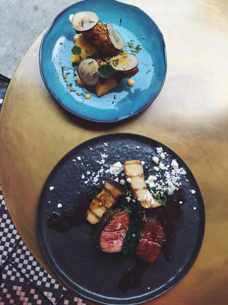 Platos del restaurante El Mama y La Papa