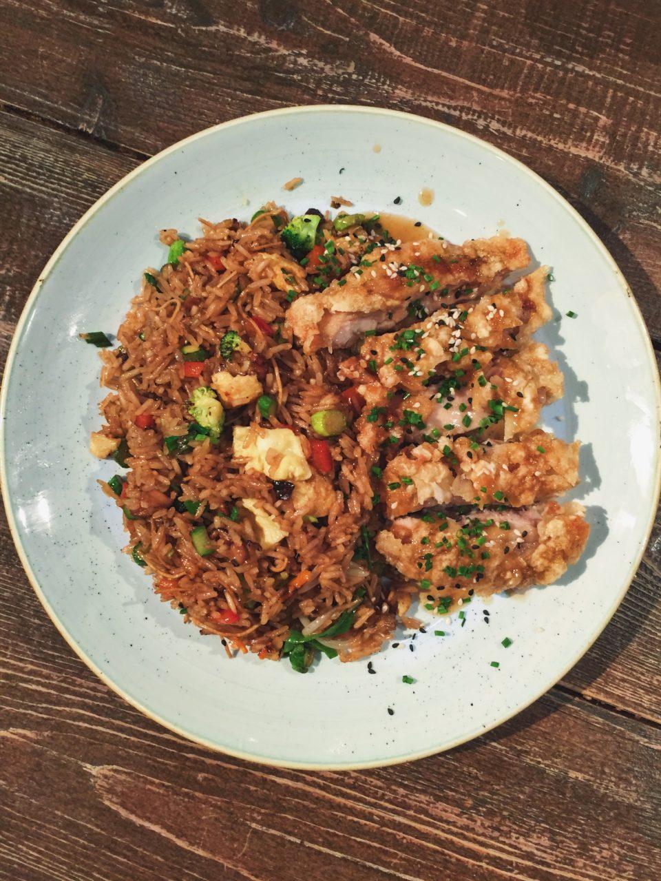 Arroz al wok con pollo del restaurante Totora